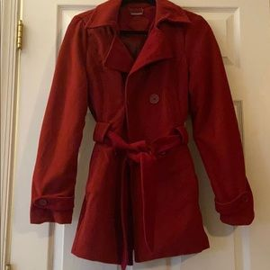 Red pea coat jou jou size medium